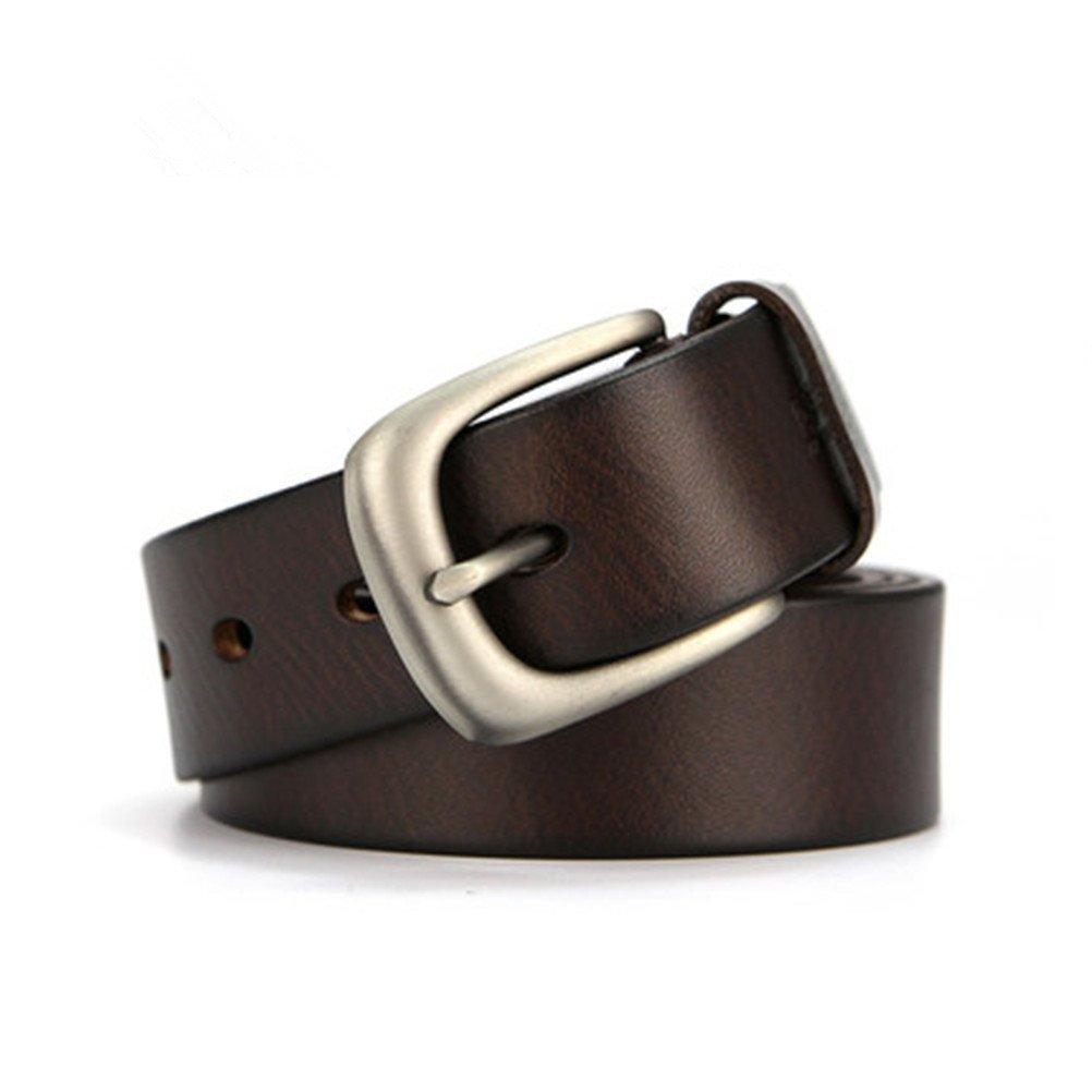 HERBAL HEAVEN Pure Cowhide Leather Pin Buckle Belts Leather Belt Tide
