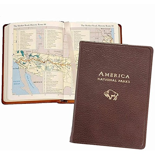 Serve Continental Cover (Graphic Image America Atlas, Goatskin Leather, Mocha (APRMRBLGTIMOC))