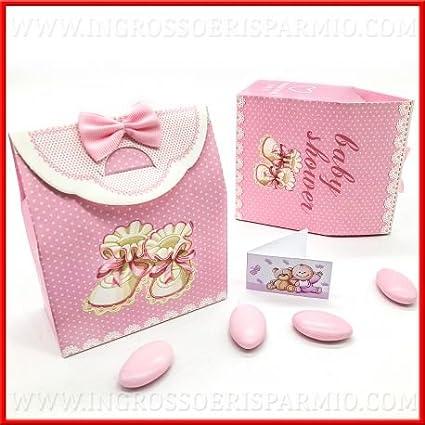 Caja para dulces (cartón duro con forma de bolsa Con Diseño a lunares blancos