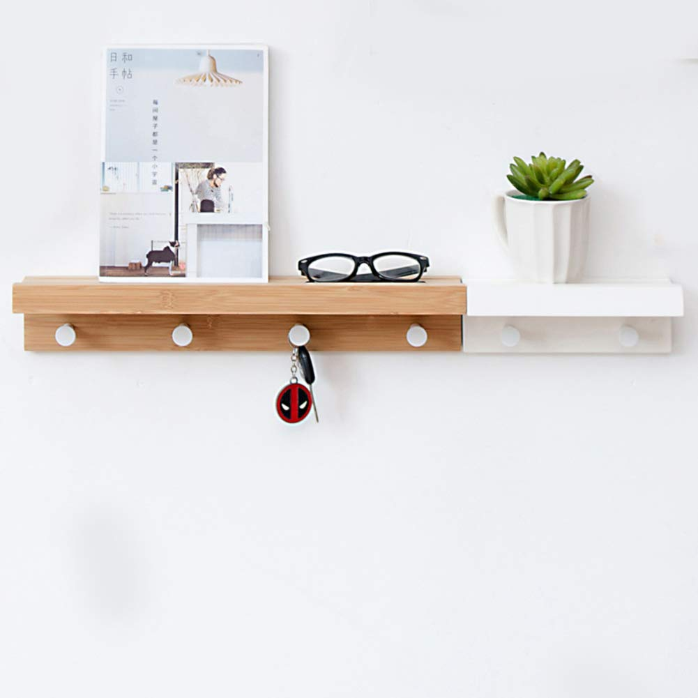 O 83.8x12x8cm(33x5x3inch) Bamboo Coat Hook Wall Mounted,6 Hooks Coat Racks,Beautiful Entryway Hanger for Home Office or Dorm Room Easy Assembly-O 83.8x12x8cm(33x5x3inch)