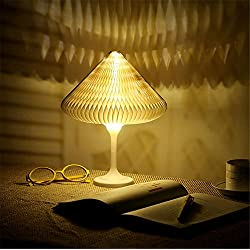 LED Bedside Lamp Atmosphere Lamp studying Desk lamp Touch Control with USB Charging Port Dimmable Table lamp