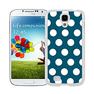 New Style View Window Design Smart Cover For Samsung Galaxy S4 i9500 Polka Dot Dark green and White Watercolor Samsung Galaxy S4 i9500 Case White Cover