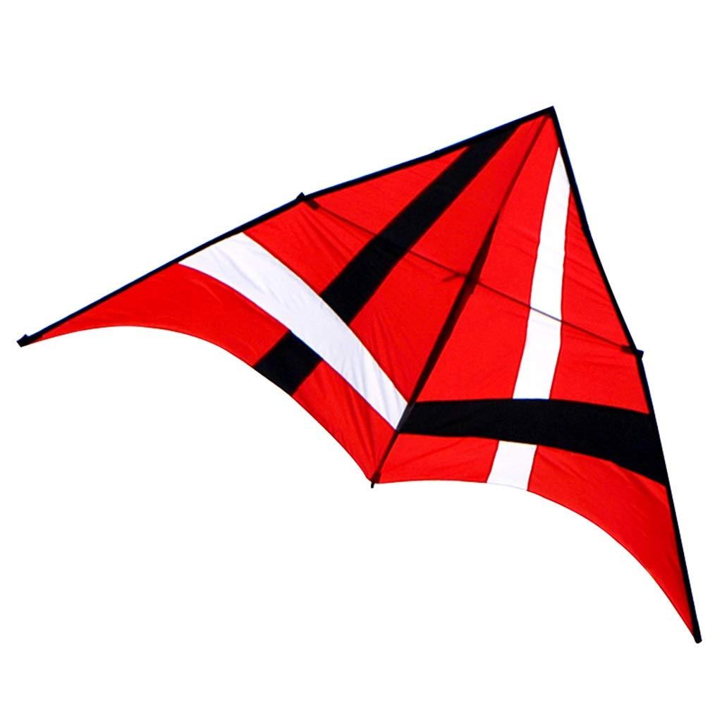 大人の凧、大きい凧の傘の布の樹脂棒の携帯用飛行おもちゃ、280 : (色* 赤 140CMを飛ばすこと容易な多彩な三角形のそよ風 (色 : 赤) B07R5WLYV8 赤, 作業屋やまほ:b276d5a8 --- ferraridentalclinic.com.lb