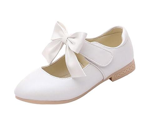 La Vogue Zapatos Zapatilla con Lazo para Niña Princesa Fiesta: Amazon.es: Zapatos y complementos