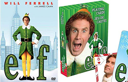 Card Story Christmas - Double Elves Spirited Christmas... ELF DVD Movie Will Ferrell + Cards & Scenes of Buddy Santa's Elf Holiday Comedy 2-Pack