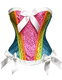 Bslingerie Women Fashion Satin Bridal Overbust Corset