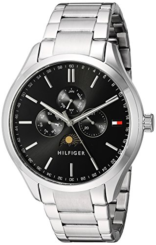 Tommy-Hilfiger-Mens-OLIVER-Quartz-Stainless-Steel-Casual-Watch-ColorSilver-Toned-Model-1791303