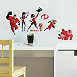 #2: RoomMates the Incredibles 2 Peel and Stick Wall Decals, Red, Yellow, Black
