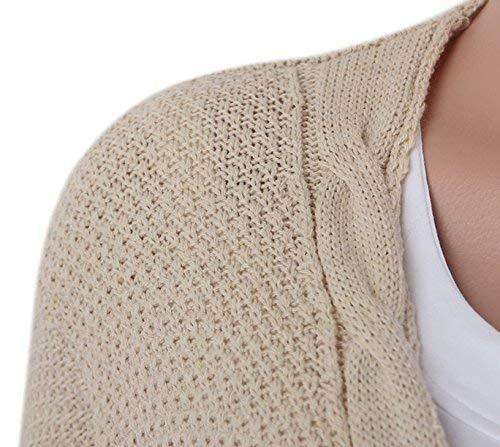 Giacca Donne Moda Di Maniche Alta Qualità Eleganti Pullover Autunno Invernali Lunghe Grazioso Libero Cappotto Tempo Khaki Vintage A Forcella Tasche Stlie Relaxed Con Maglia Aperto rwat0xqrU