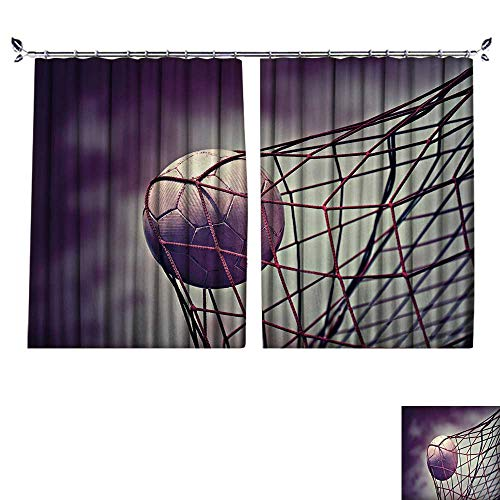 PRUNUS Shading Polyester Material Symbolic Picture for Goal with a Soccer Ball in net for Room Decoration W120 x L96