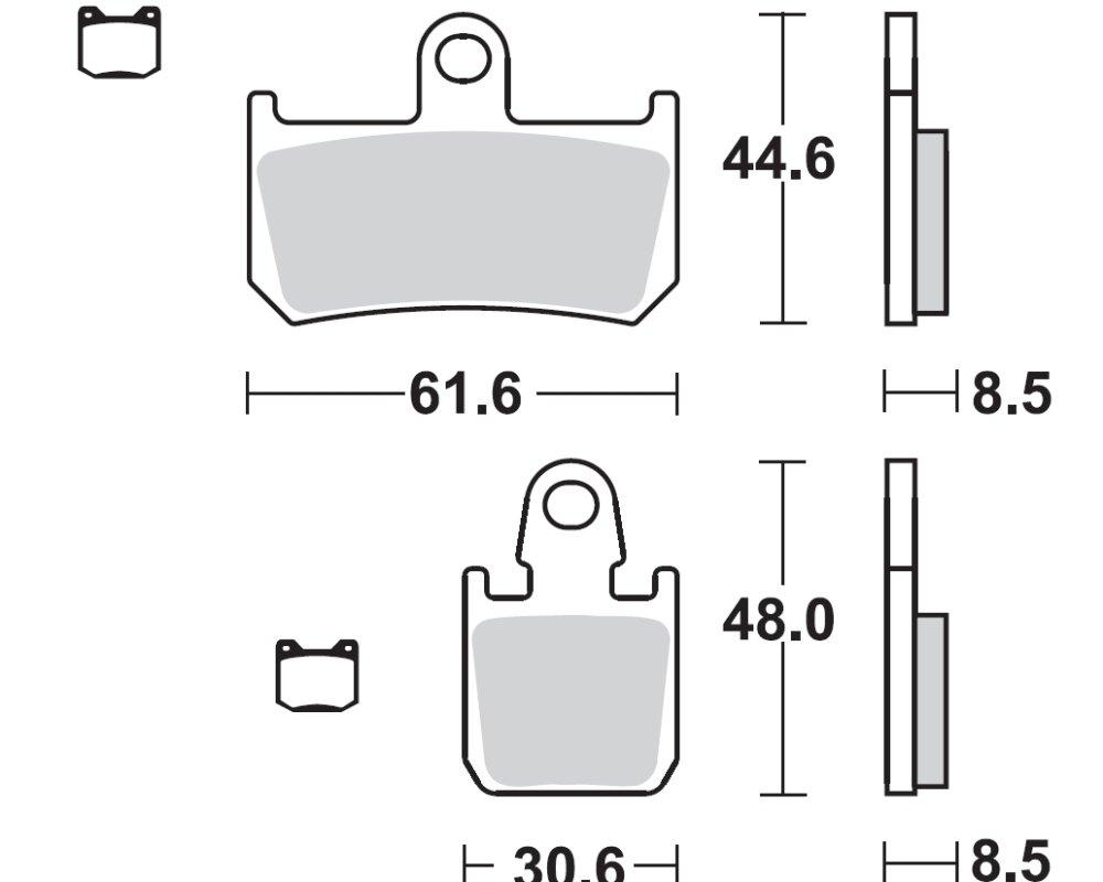 Bremsbeläge TRW MCB795SV für YAMAHA YZF 1000 R1 RN19 07-08 (vorne)