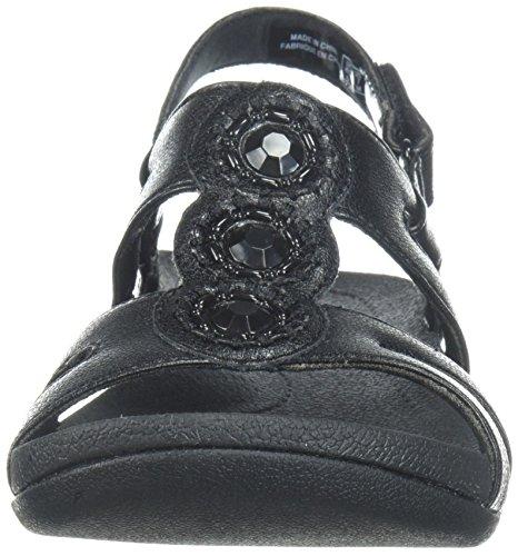 WoMen Black Leather SERINO Pical Clarks Platform gxqzzd