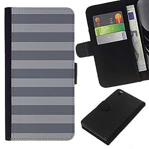 For HTC DESIRE 816 Case , Stripes Lines Pattern Monotone - la tarjeta de Crédito Slots PU Funda de cuero Monedero caso cubierta de piel