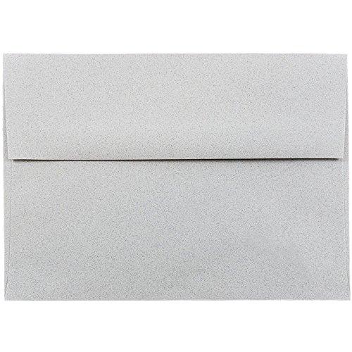 "JAM Paper A7 Invitation Envelope - 5 1/4"" x 7 1/4"" - Granite Recycled - 25/pack"