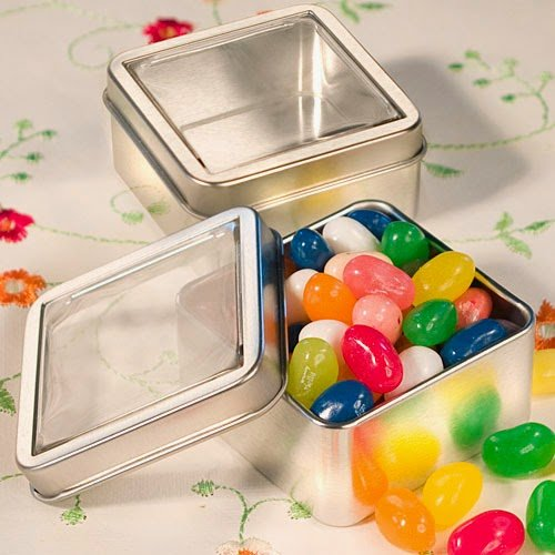 75 Clear Top Mint Tin Favors Labels Square Favor Tins