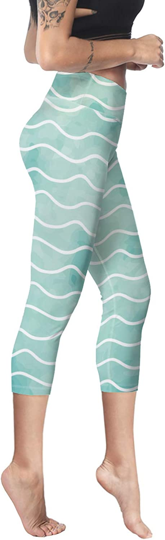 Printed Leggings for Women My First Communion 3//4 High Waist Yoga Pants Sport Gym Leggings Workout