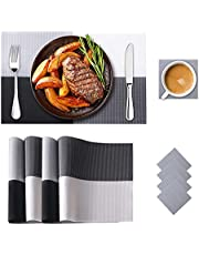 Bumlon Placemats, Table Mats and Coasters Set of 4 for Dining Table, Heat Resistant Washable Non-Slip for Home Restaurant