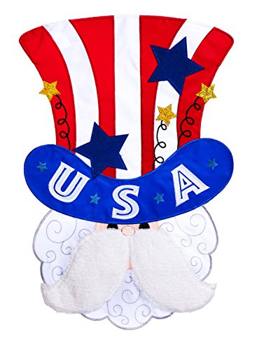 Evergreen Uncle Sam Applique House Flag, 29 x 43 inches