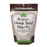 NOW Foods Organic Hemp Seed Hearts, 8-Ounce