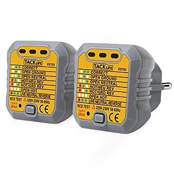 Tacklife est02 – 2 erweiterte Prüfgerät/Beleuchtungstester, ISDN S0 ...