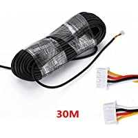 MOUNTAINONE 30M 2.544P 4 wire cable for video intercom Color Video Door Phone doorbell wired Intercom cable