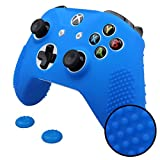 old xbox controller skin - Pandaren STUDDED Anti-slip Silicone Cover Skin Set for Xbox One S / Xbox One X Controller (Blue Skin X 1 + Thumb Grip X 2)