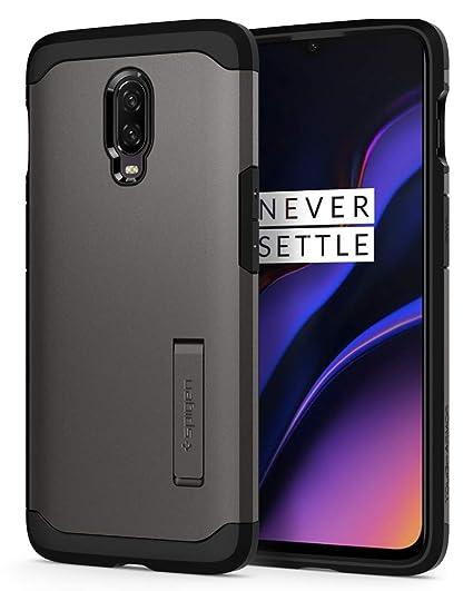 4d23d2f0538 Amazon.com  Spigen Tough Armor Designed for OnePlus 6T Case (2018) -  Gunmetal  Cell Phones   Accessories