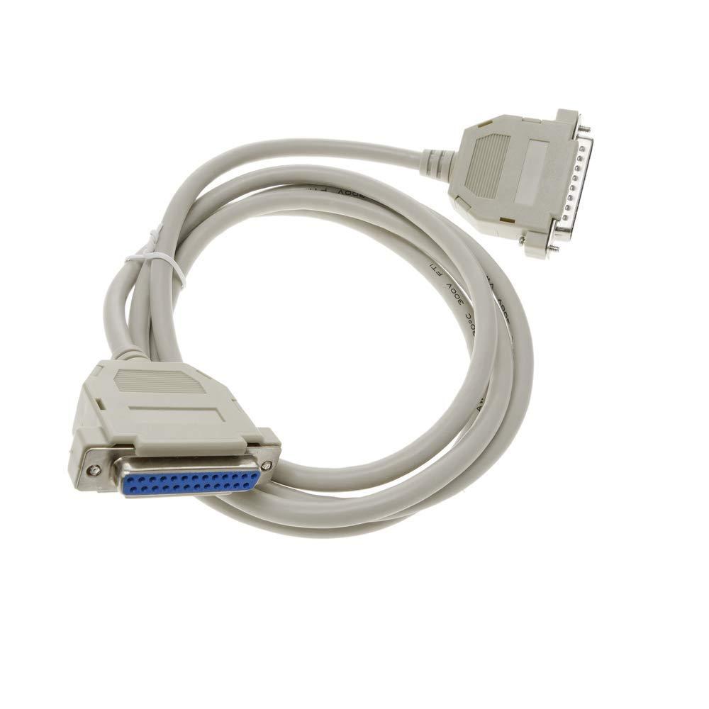 Cable s/érie//parall/èle de 1,8 m DB25-M//H BeMatik