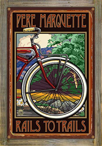 Northwest Art Mall Pere Marquette Rustic Metal Print on Reclaimed Barn Wood by Paul A. Lanquist (12