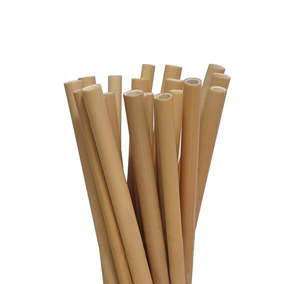 Bambus Strohhalme 12 Wiederverwendbare Strohhalme Aus Bambus 20cm