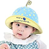 Baby Sun Hat Summer Hat Bucket Hat for Kids Blue Dot Pattern