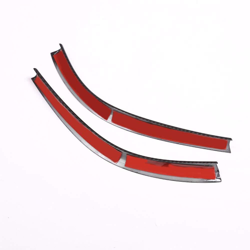 2 tiras de decoraci/ón para consola central de fibra de carbono cromado para Benz A//GLA//CLA Clase W176 A180