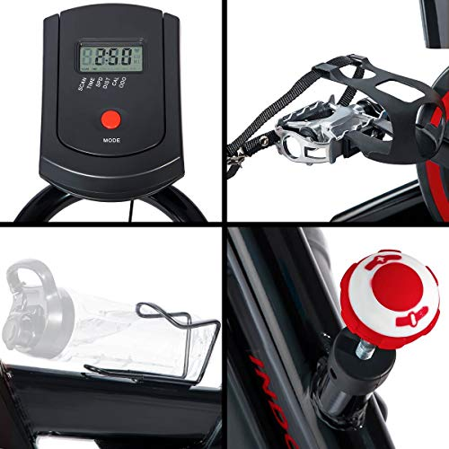 Merax Deluxe Indoor Cycling Bike Cycle Trainer Exercise Bicycle (Black with Red) by Merax (Image #5)
