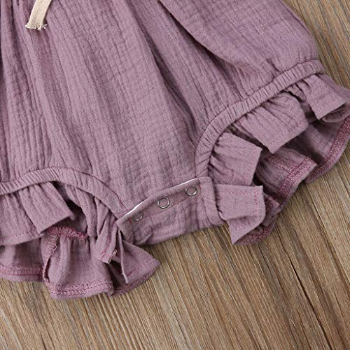 dd9b0e675b9ca WOCACHI Toddler Baby Girls Clothes, Newborn Infant Baby Girls Color Solid  Ruffles Backcross Romper Bodysuit Outfits Infant Bodysuits Rompers Clothing  ...