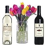 Stargazer Barn-Bright & Cheery Wine & Flower Gift Set-2 Bottles x 750 mL