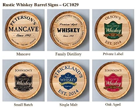 Whiskey Barrel Home Decor Sign ( Personalized Sign ) Private Label