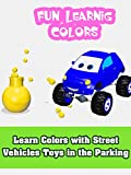 Learning Colours with Fun Monster Truck Cartoon for Kids and Crazy Jumps