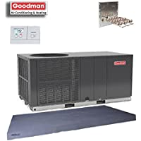 Goodman 4 Ton 14 SEER Heat Pump Package Unit GPH1448H41 Prog. Tstat+Equip Pad