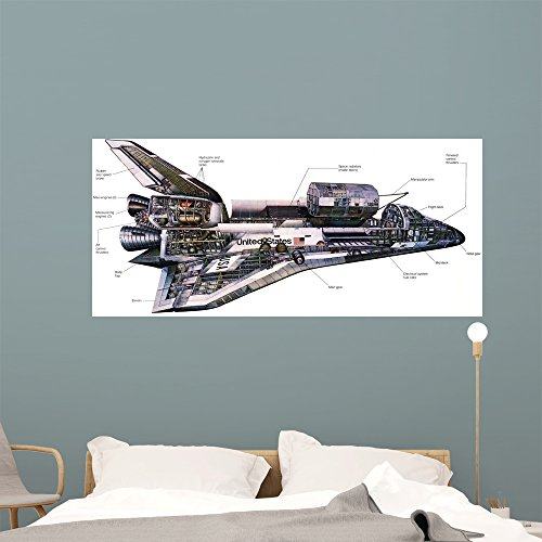 - Illustration Orbiter Cutaway Space Wall Mural by Wallmonkeys Peel and Stick Outer Space Graphic (60 in W x 27 in H) WM314373