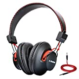 Avantree Super Comfortable Bluetooth Over Ear Headphones with Mic, Wireless and Wired Dual Mode, aptX Hi-fi Sound, 40h Music Time Lightweight - Audition