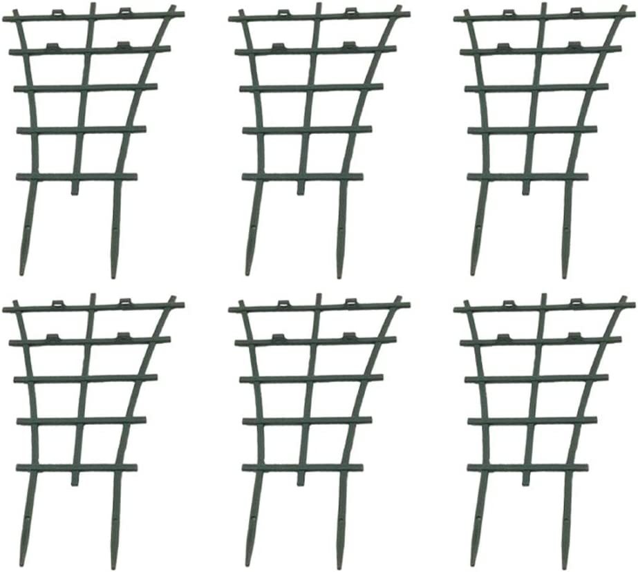 OLANZH Pot Trellis,6Pcs Trellis for Indoor Plants,Mini Plant Trellis DIY Garden Plant Support,Superimposed,Climbing Trellis Flower Supports for Potted Climbing Plants Vines,9.8x5.9 inch