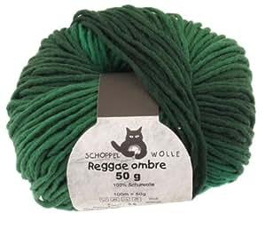 Schoppel-Wolle Lana de Tejer Reggae ombré 1966ombre (verde hierba - 50 gr)