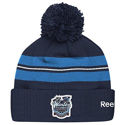 (NHL Winter Classic Men's Pom Beanie, One Size, Navy)