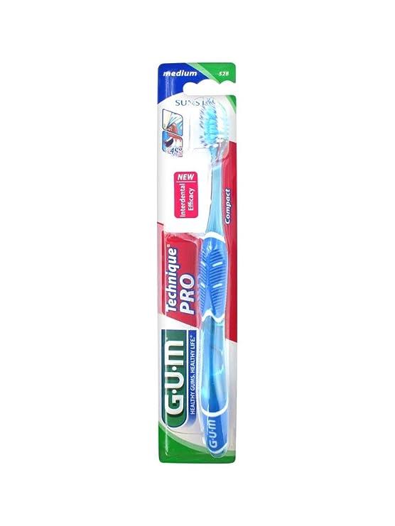Cepillo de dientes Technique Pro de Gum, n.º 528, dureza media: Amazon.es: Salud y cuidado personal