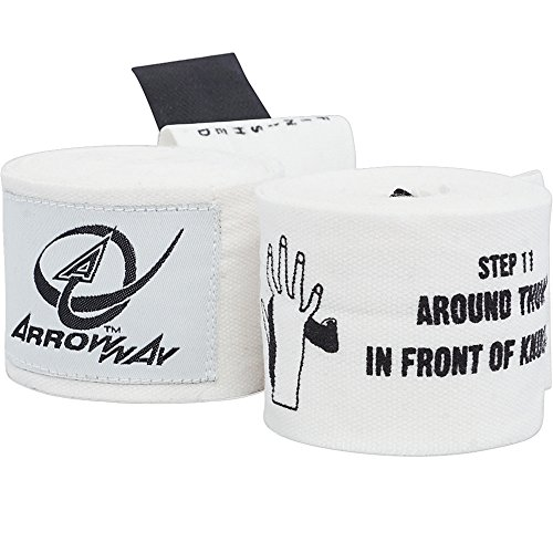 Printed Karate - ArrowWay Instructional Hand Wraps w/ Printed Directions for Boxing & MMA - 142