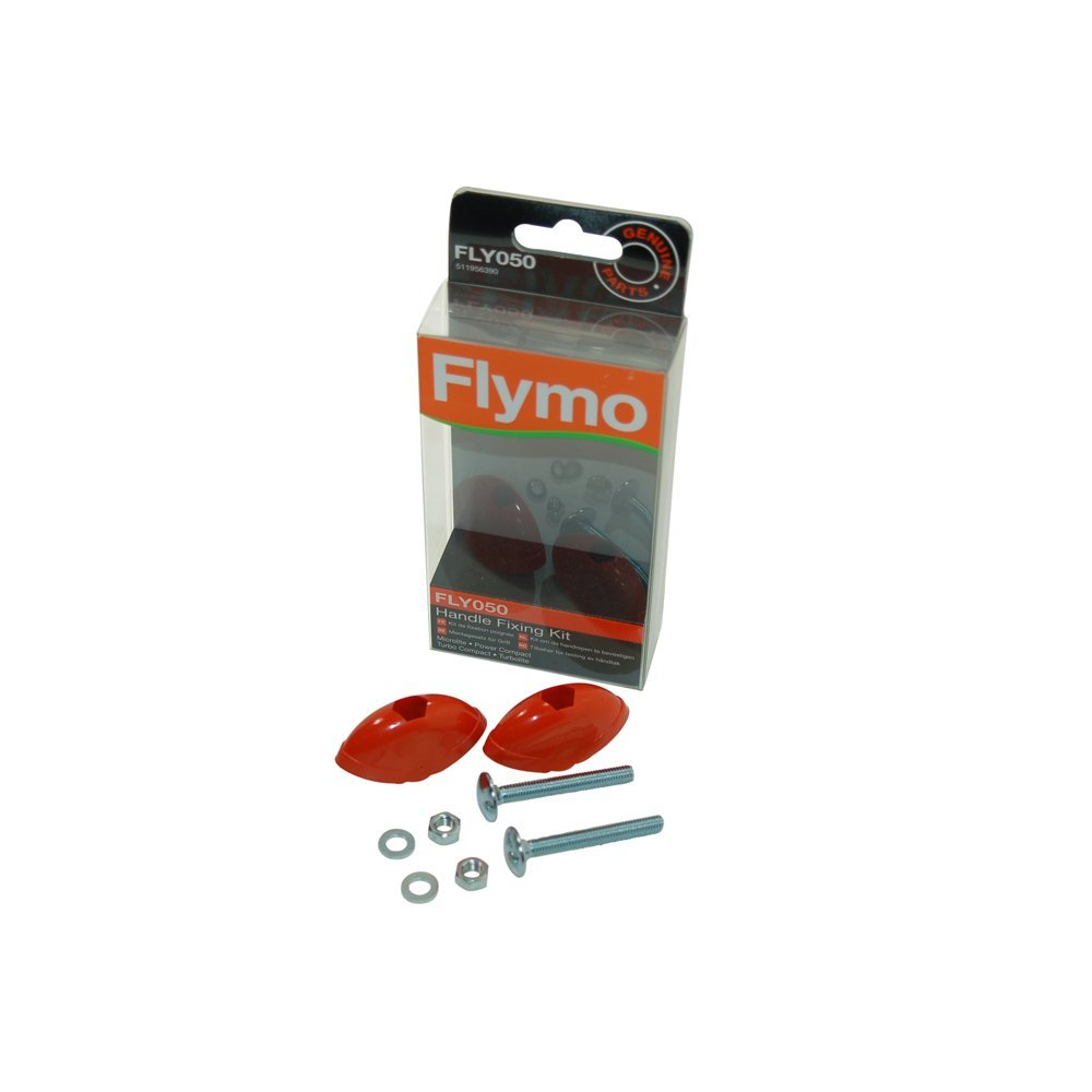 Flymo Genuine Part Number 5119563905 Lawnmower Handle Fixing Kit. FLY050 for Easibag,GT500,HoverVac / HV280,HoverVac Dual Handle / HV2800,L400,L470,Lawnrake Compact 340,Micro Compact 30,Micro Compact 300 Plus,Microlite E28,Power Compact 330,Power Compact