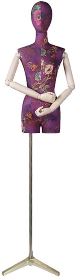 93CM Lightweight Base Linear Needle Fixed Height Sewing Clothing Model Female Model Trunk Body Wearing Form LING AI DA MAI Womens Half Body Pattern Model Human Torso