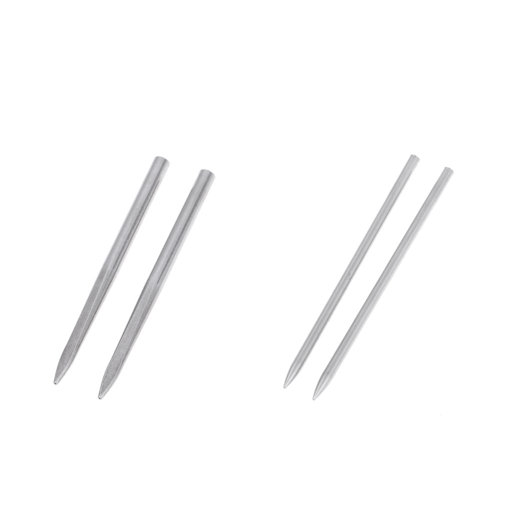 Homyl 2 Pairs FID Lacing Stitching Needles Stainless Steel Fids for 2mm 3mm Paracord Leather 8cm/3inch Long Outdoor Activities Emergency Equipment