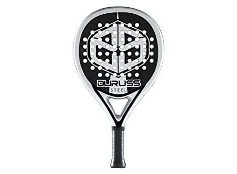 Duruss Steel - Pala de pádel para Hombre, Color Plateado: Amazon ...