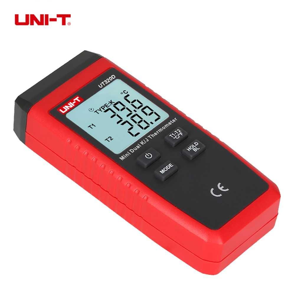 UNI-T UT320D Mini termometro di tipo a termocoppia K / J Termometro a contatto con retroilluminazione LCD Regard Regard Natral